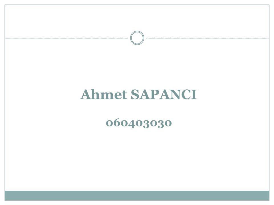 Ahmet SAPANCI 060403030