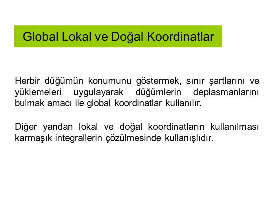 Global Lokal ve Doğal Koordinatlar