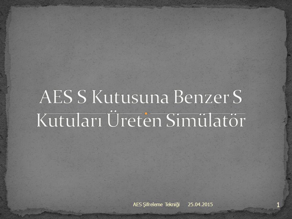 AES S Kutusuna Benzer S Kutuları Üreten Simülatör