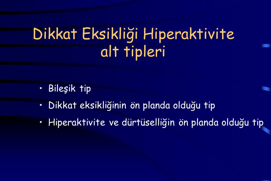 Dikkat Eksikliği Hiperaktivite alt tipleri