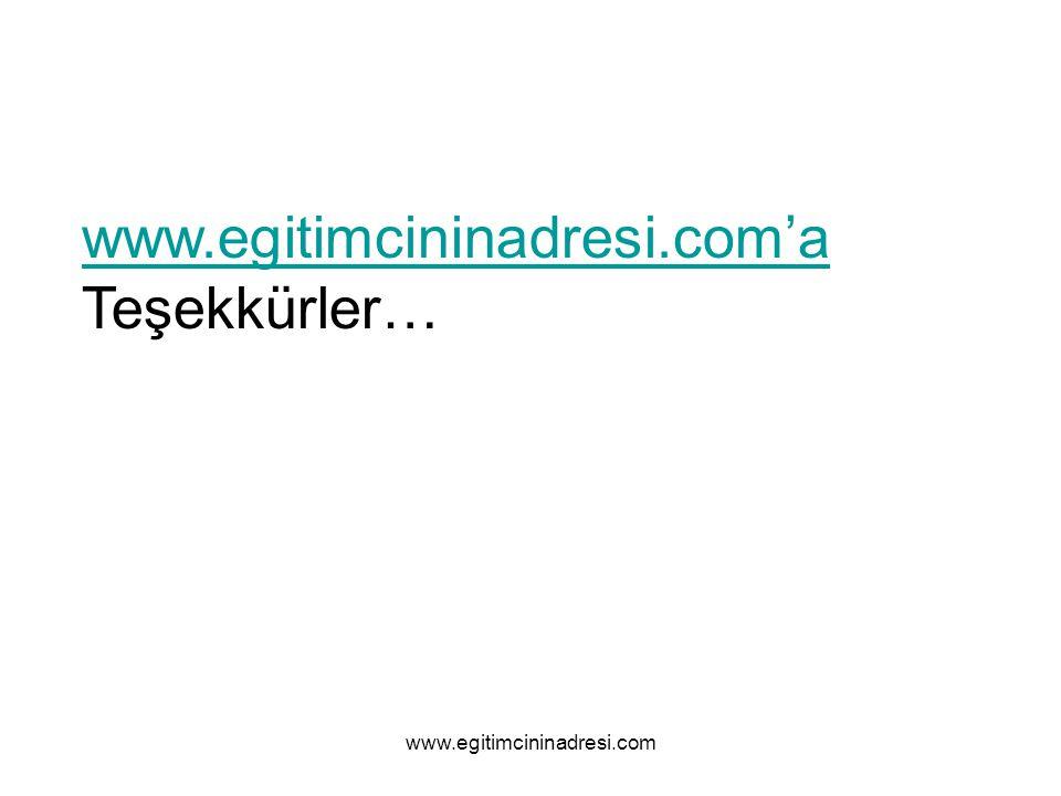 www.egitimcininadresi.com'a Teşekkürler… www.egitimcininadresi.com