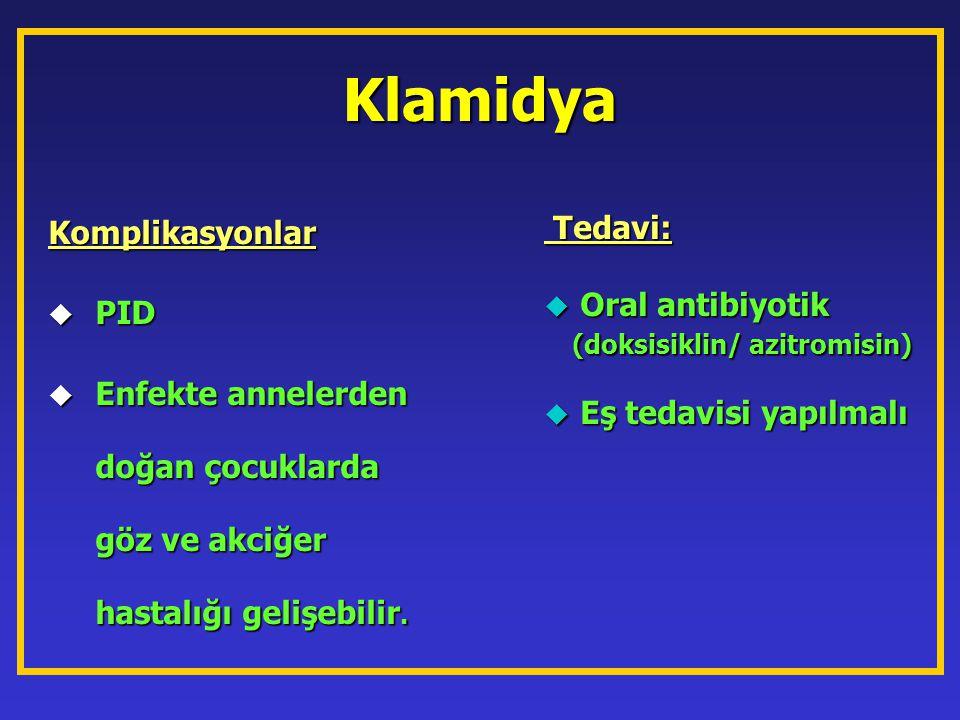 Klamidya Komplikasyonlar Tedavi: PID Oral antibiyotik