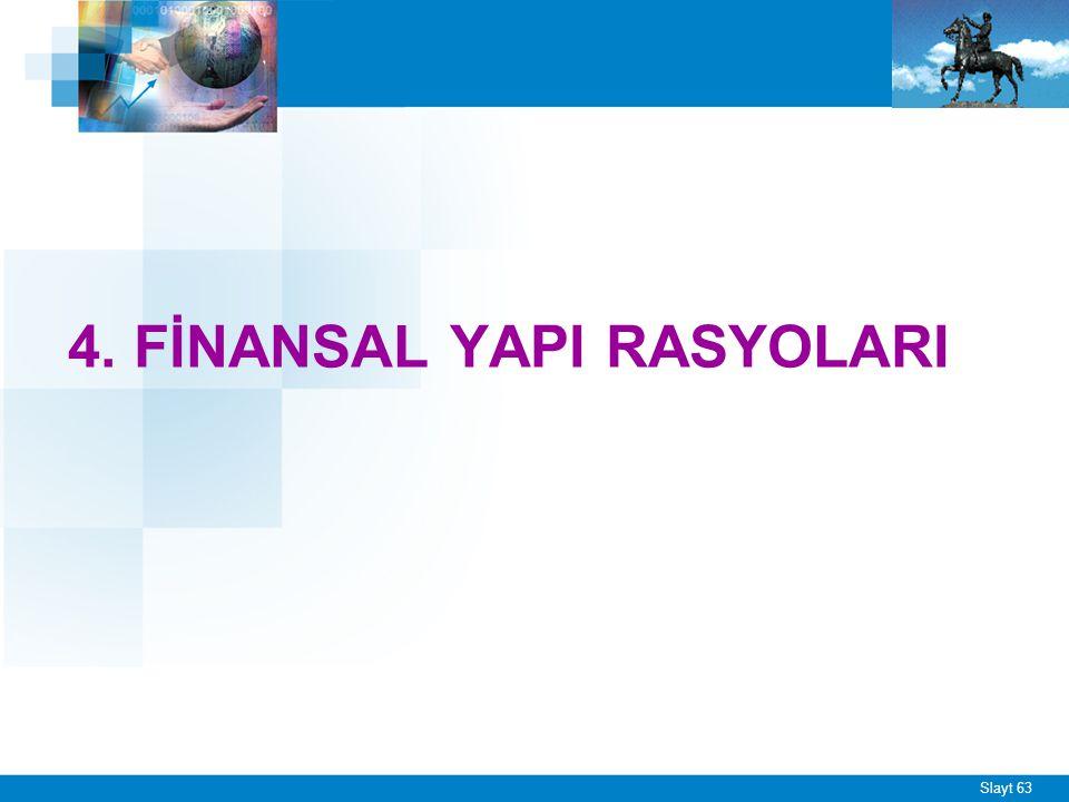 1. Özsermaye Rasyosu Özsermaye Rasyosu = = Bu rasyo özsermayenin işletmenin finansal yapısındaki payını gösterir.