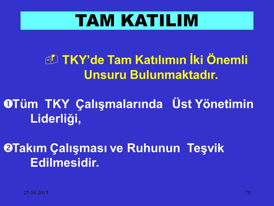 TKY'de Tam Katılımın İki Önemli