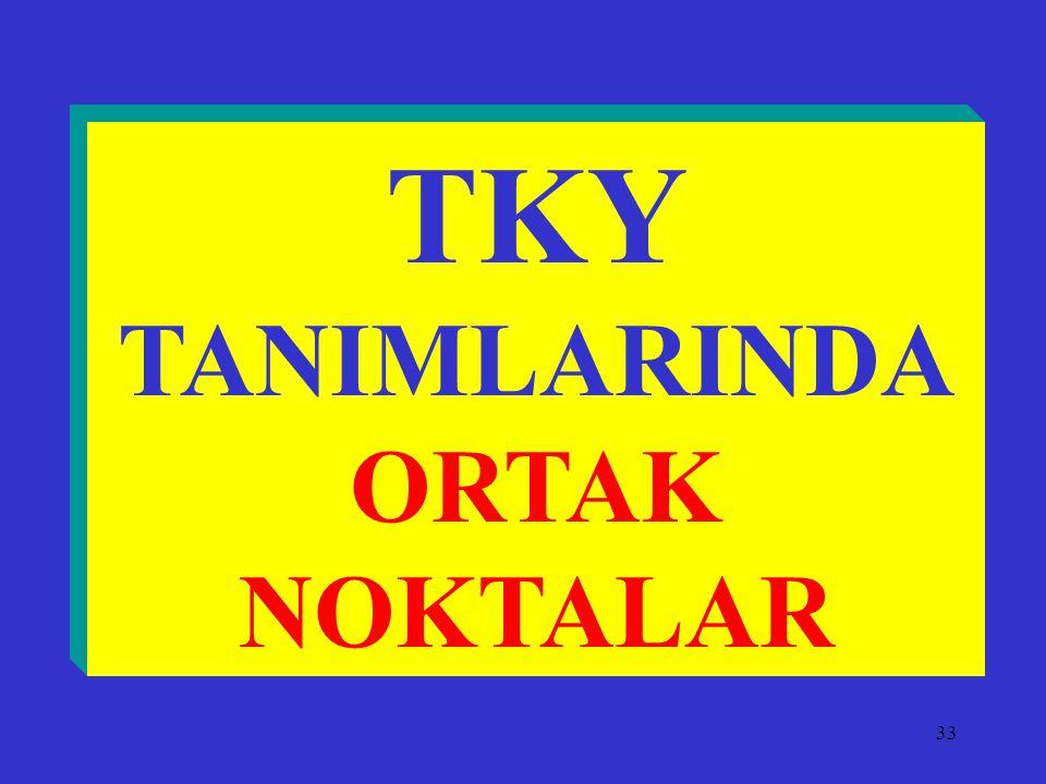 TKY TANIMLARINDA ORTAK NOKTALAR