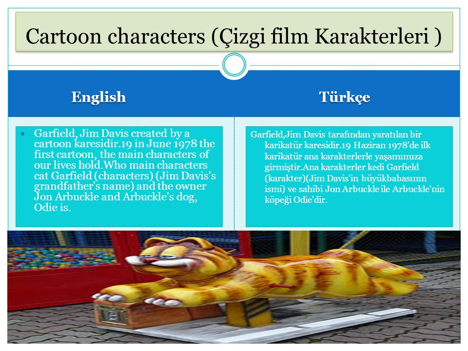 Cartoon characters (Çizgi film Karakterleri )