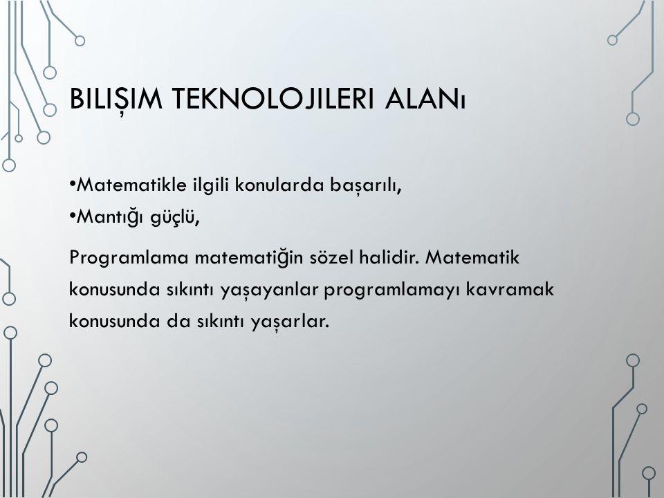 Bilişim teknolojileri alanı