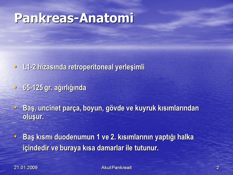 Pankreas-Anatomi L1-2 hizasında retroperitoneal yerleşimli