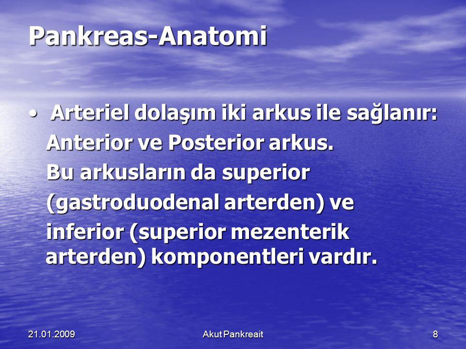 Pankreas-Anatomi • Arteriel dolaşım iki arkus ile sağlanır: