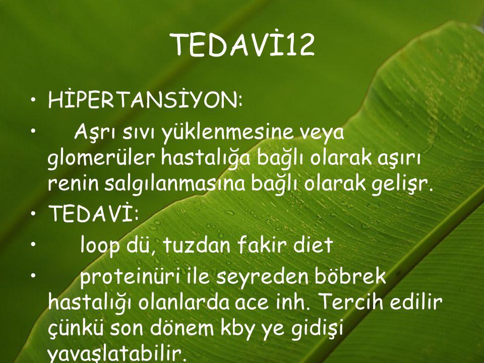 TEDAVİ12 HİPERTANSİYON: