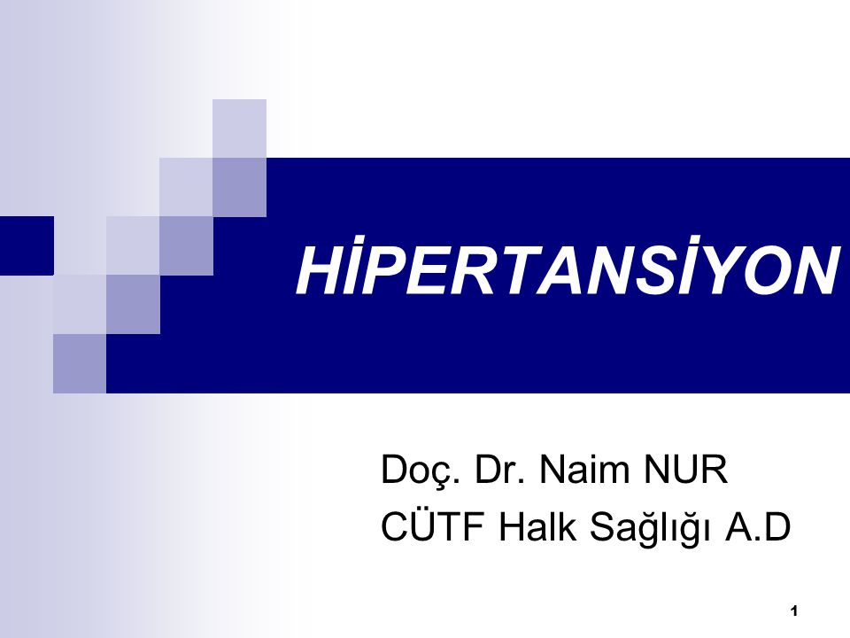 Doç. Dr. Naim NUR CÜTF Halk Sağlığı A.D