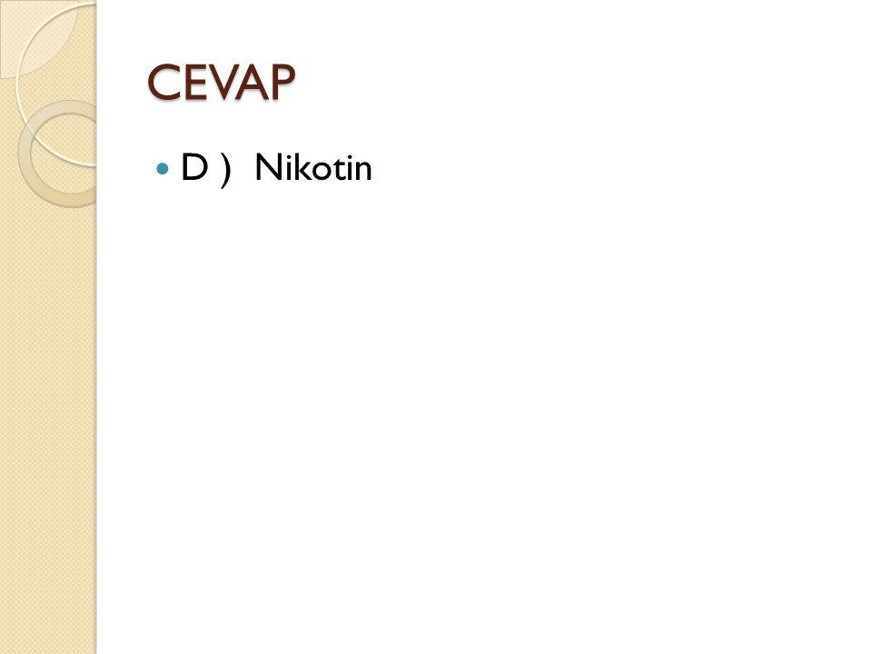 CEVAP D ) Nikotin