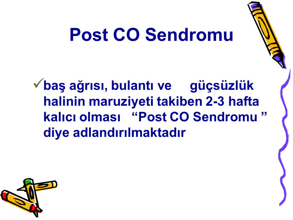 Post CO Sendromu