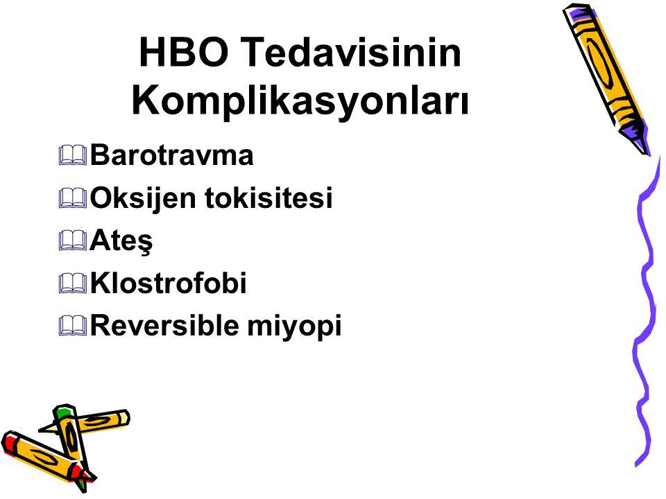 HBO Tedavisinin Komplikasyonları