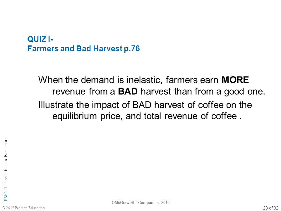 QUIZ I- Farmers and Bad Harvest p.76