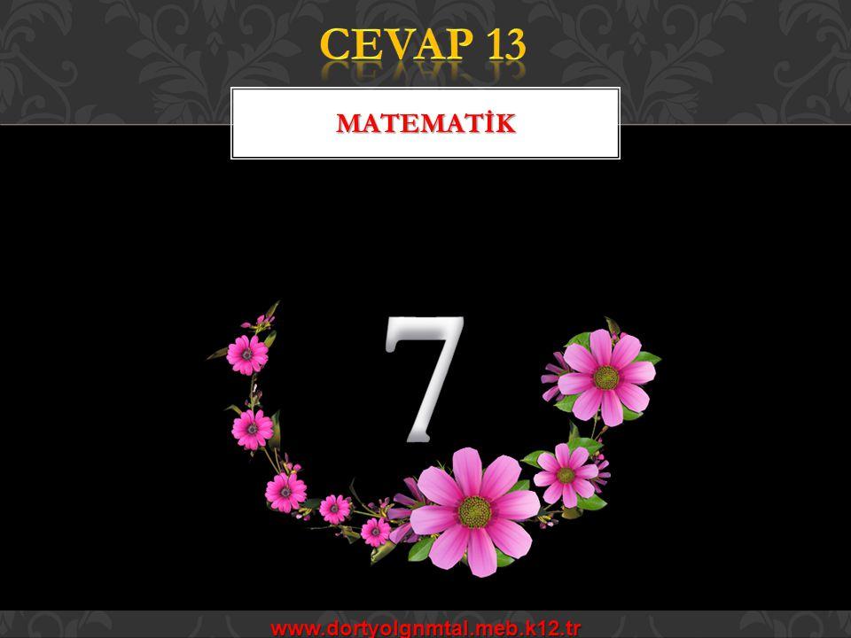 CEVAP 13 MATEMATİK 7 www.dortyolgnmtal.meb.k12.tr