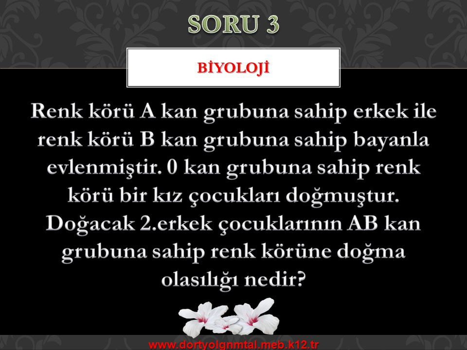 SORU 3 BİYOLOJİ.