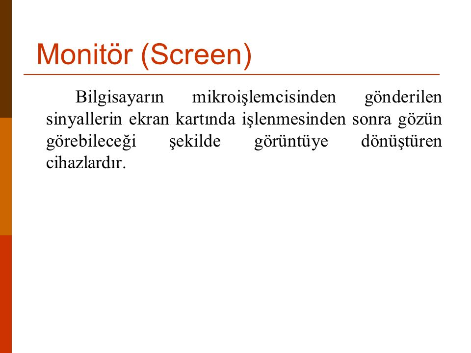 Monitör (Screen)