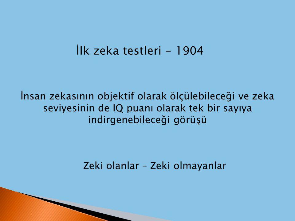 İlk zeka testleri - 1904