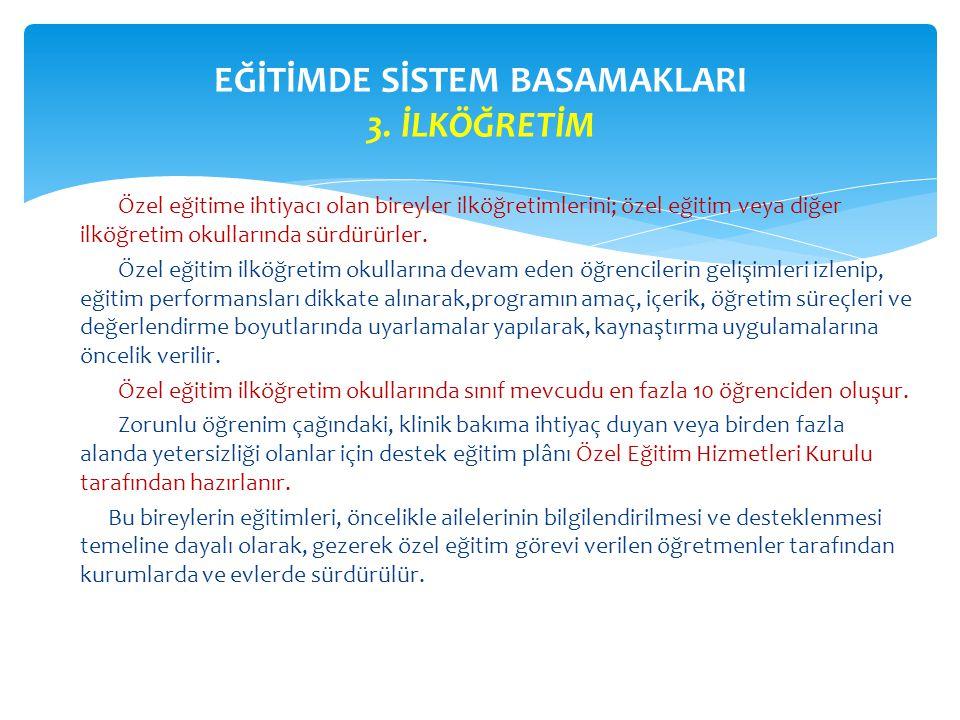 EĞİTİMDE SİSTEM BASAMAKLARI 3. İLKÖĞRETİM