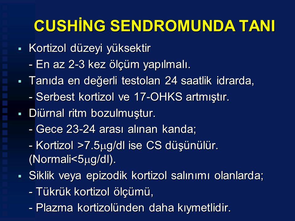CUSHİNG SENDROMUNDA TANI