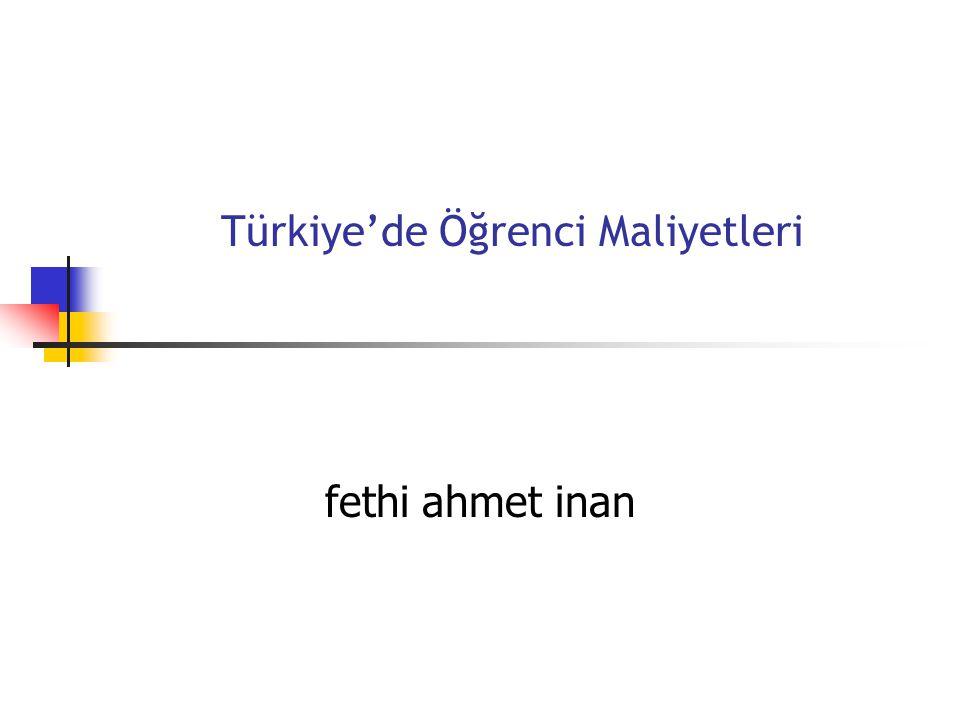 Türkiye'de Öğrenci Maliyetleri