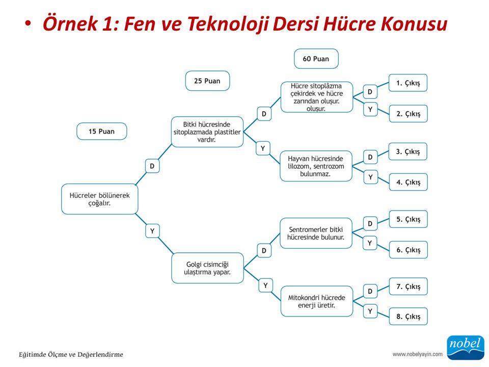 Örnek 1: Fen ve Teknoloji Dersi Hücre Konusu