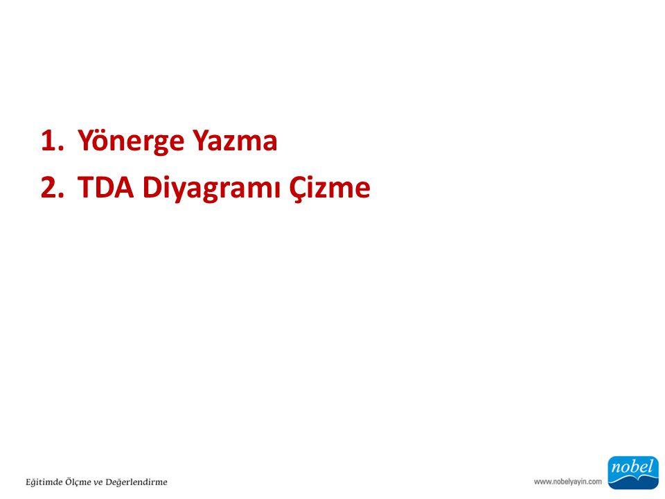Yönerge Yazma TDA Diyagramı Çizme