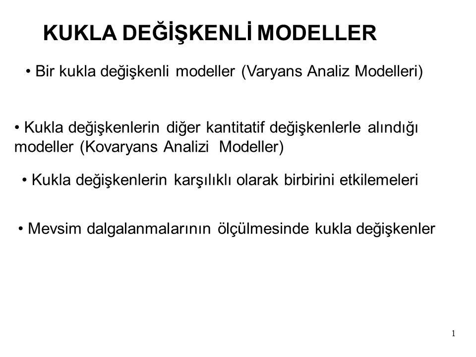 KUKLA DEĞİŞKENLİ MODELLER