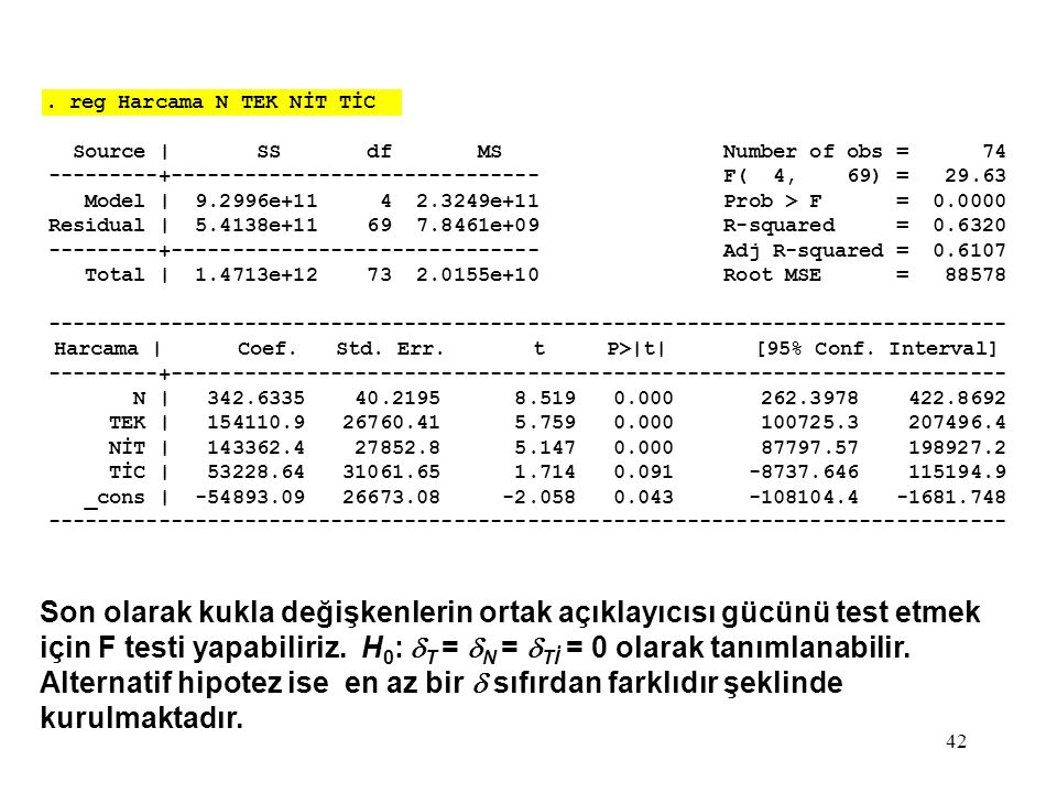 . reg Harcama N TEK NİT TİC