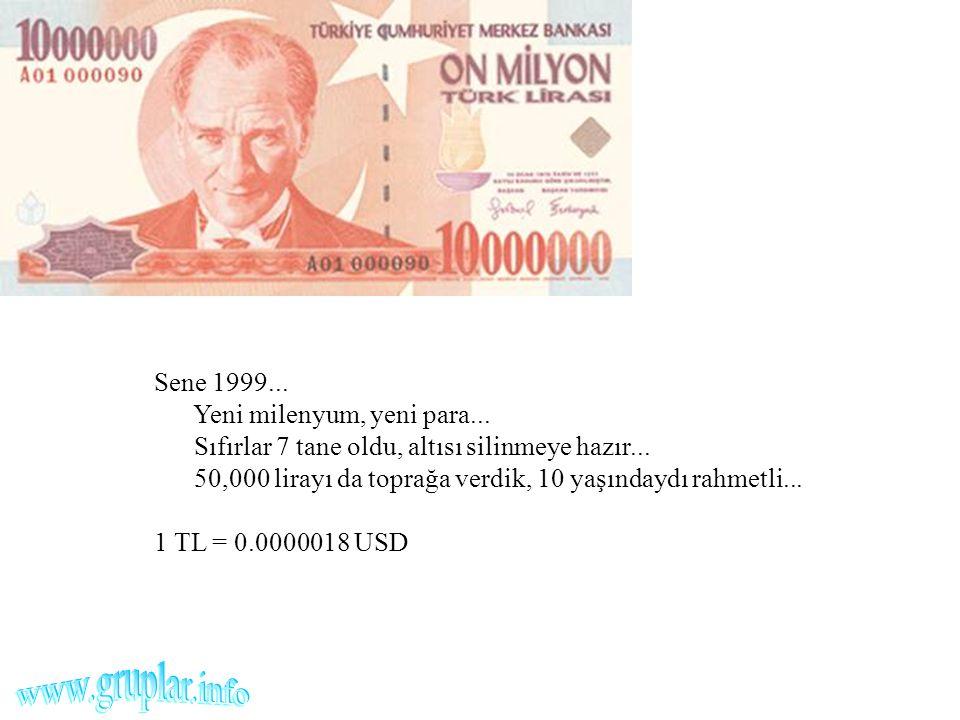 www.gruplar.info Sene 1999... Yeni milenyum, yeni para...
