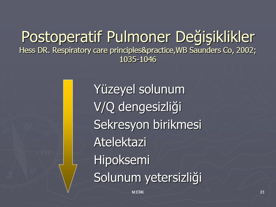 Postoperatif Pulmoner Değişiklikler Hess DR