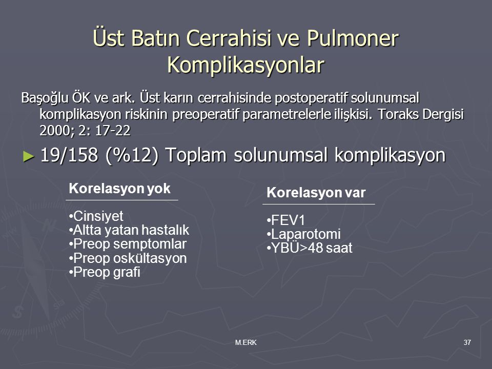 Üst Batın Cerrahisi ve Pulmoner Komplikasyonlar