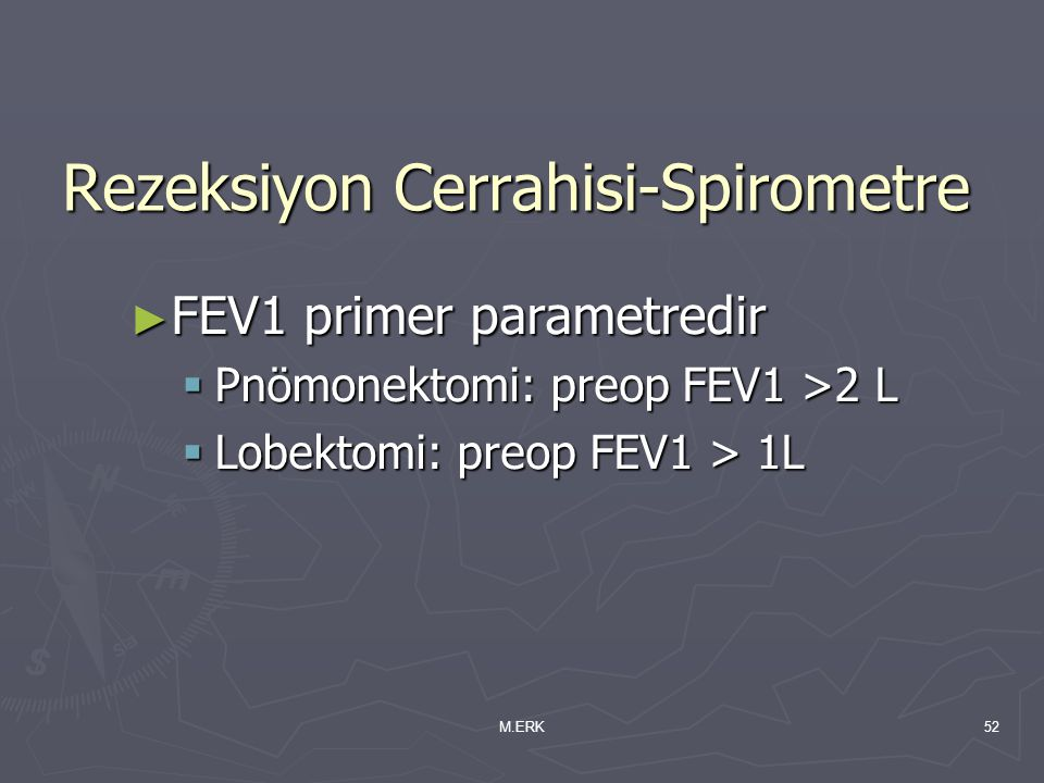 Rezeksiyon Cerrahisi-Spirometre