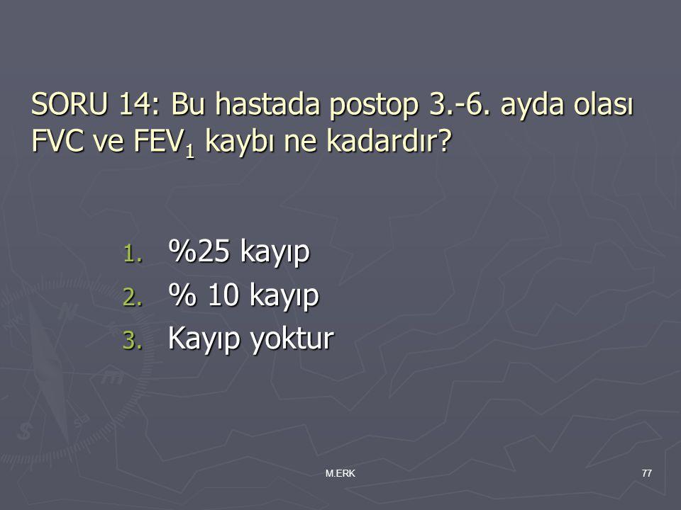 SORU 14: Bu hastada postop 3. -6