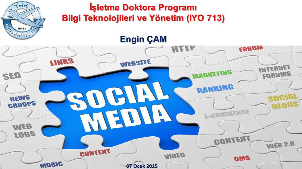 İşletme Doktora Programı Bilgi Teknolojileri ve Yönetim (IYO 713)