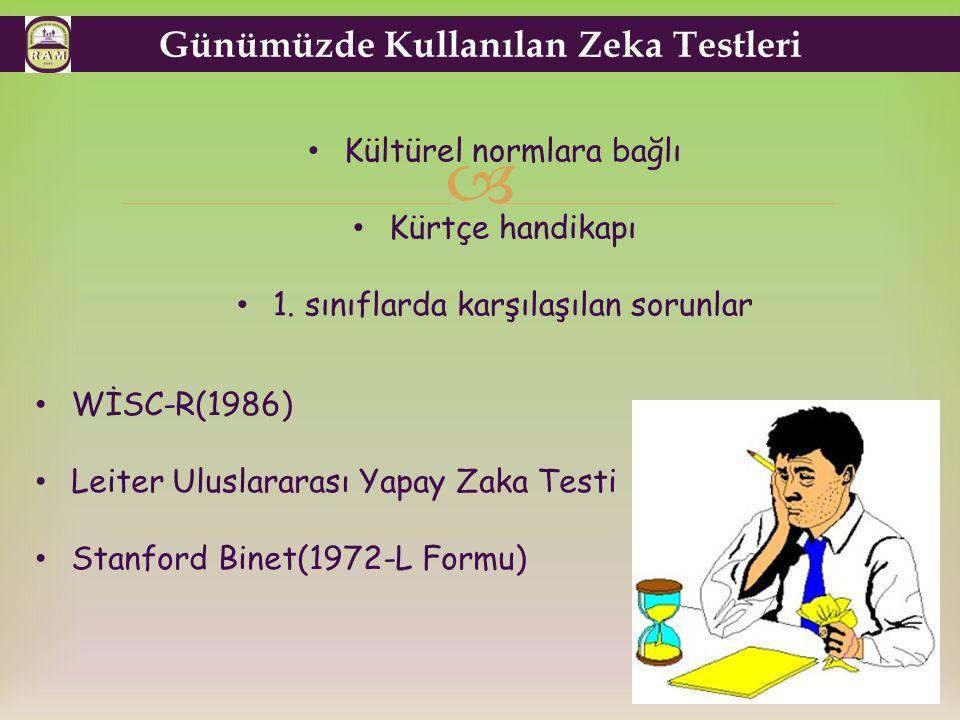 Günümüzde Kullanılan Zeka Testleri