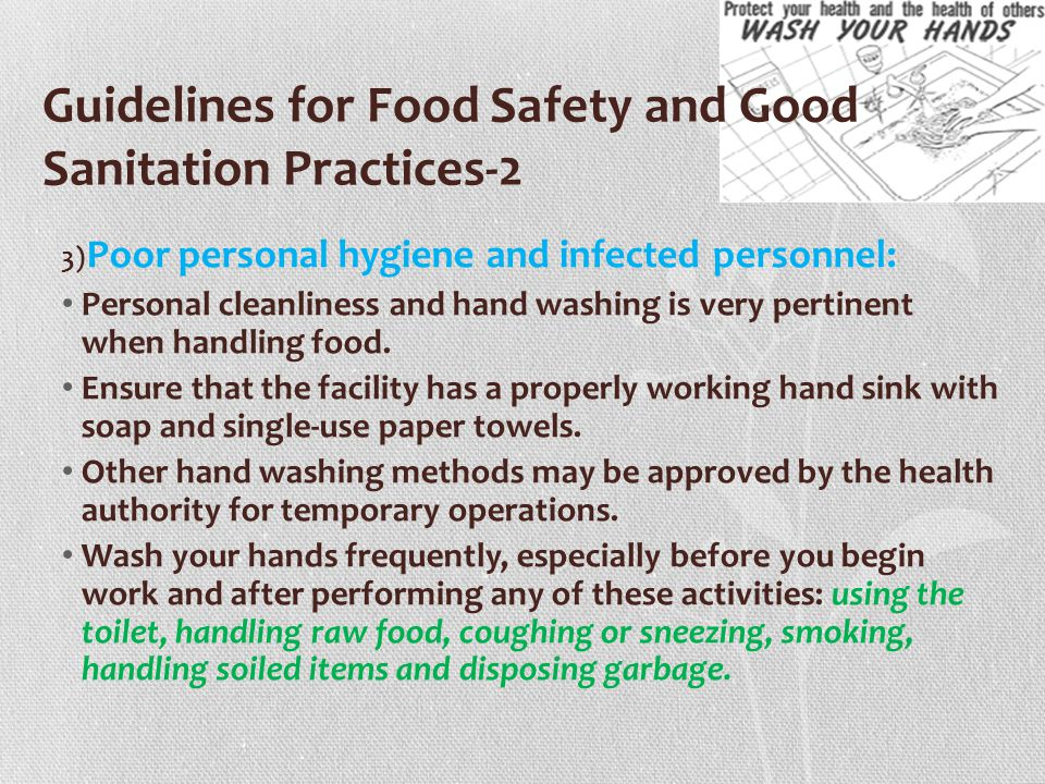 Guidelines for Food Safety and Good Sanitation Practices-2