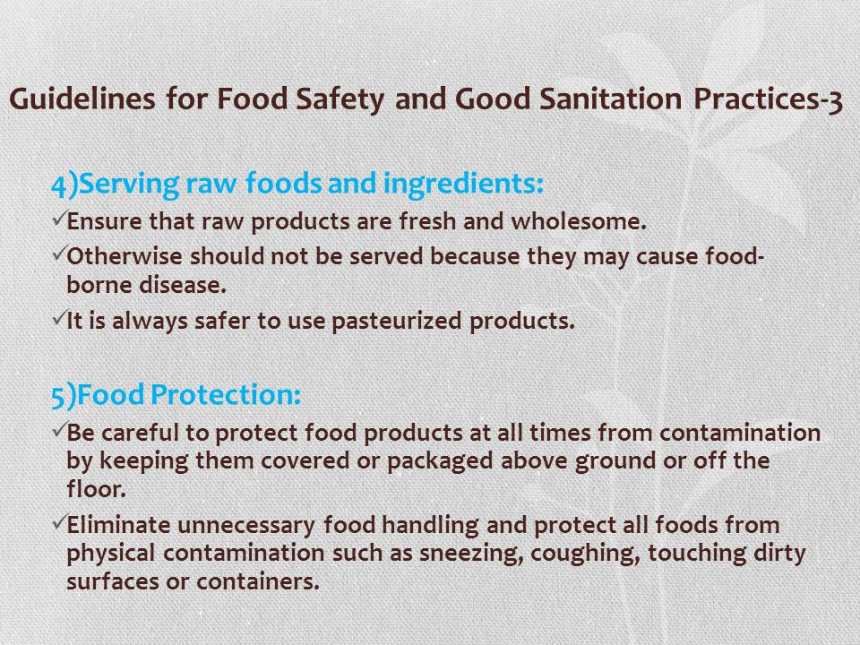 Guidelines for Food Safety and Good Sanitation Practices-3