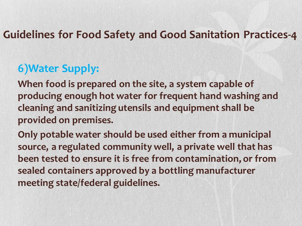 Guidelines for Food Safety and Good Sanitation Practices-4