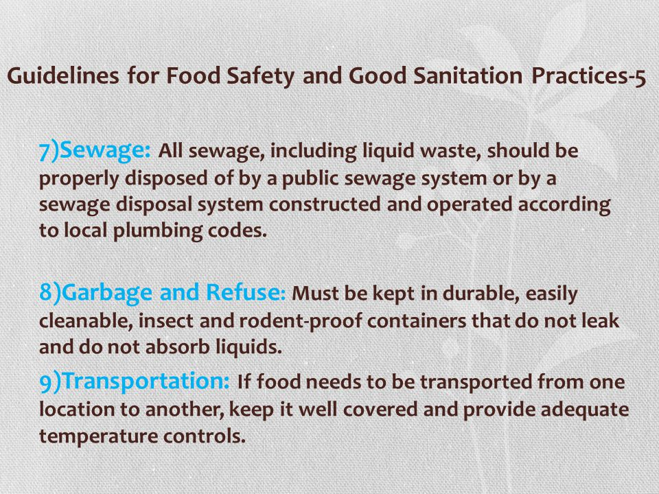 Guidelines for Food Safety and Good Sanitation Practices-5