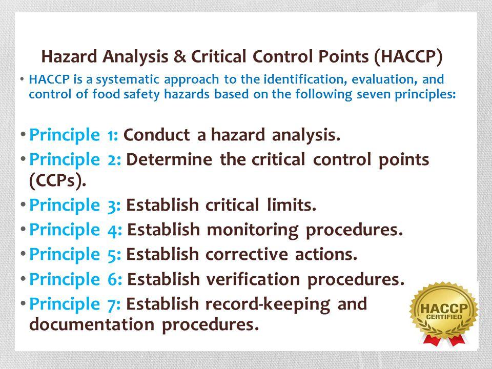 Hazard Analysis & Critical Control Points (HACCP)