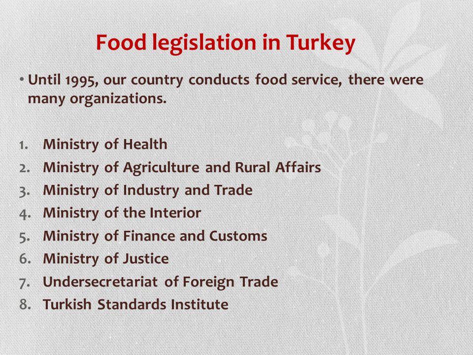 Food legislation in Turkey