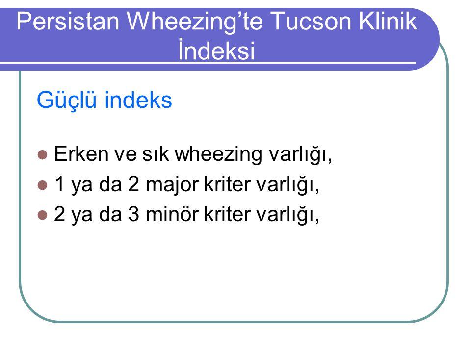 Persistan Wheezing'te Tucson Klinik İndeksi