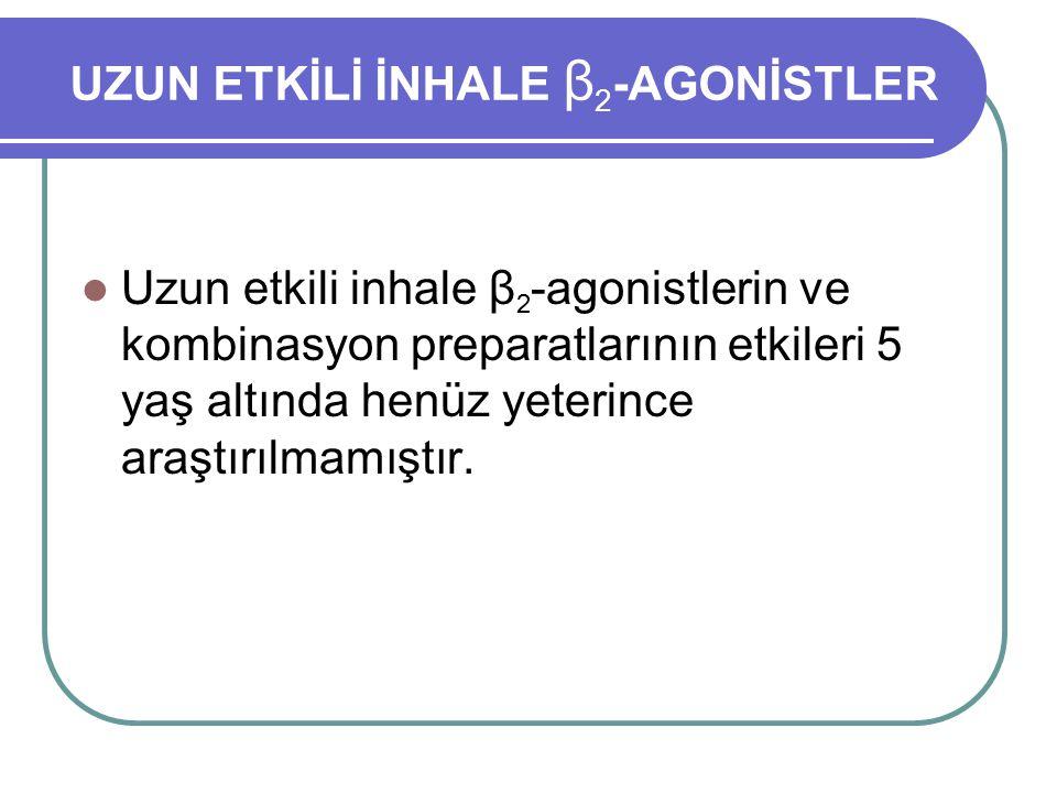 UZUN ETKİLİ İNHALE β2-AGONİSTLER