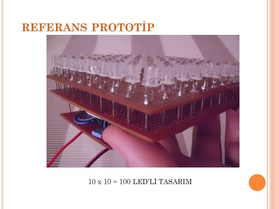 REFERANS PROTOTİP 10 x 10 = 100 LED'Lİ TASARIM