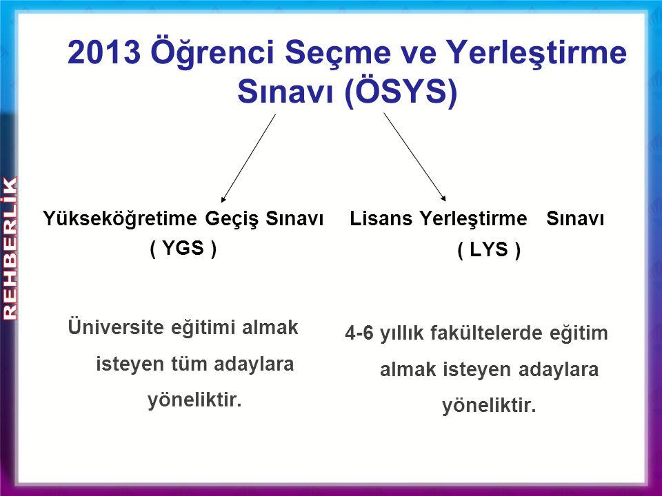 2013 Öğrenci Seçme ve Yerleştirme Sınavı (ÖSYS)