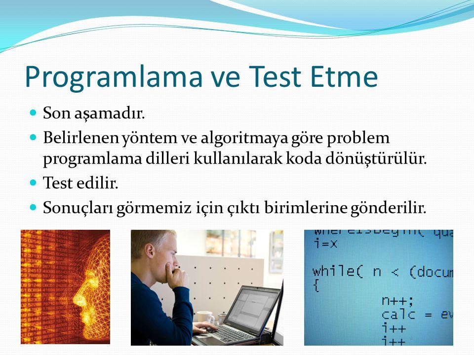 Programlama ve Test Etme