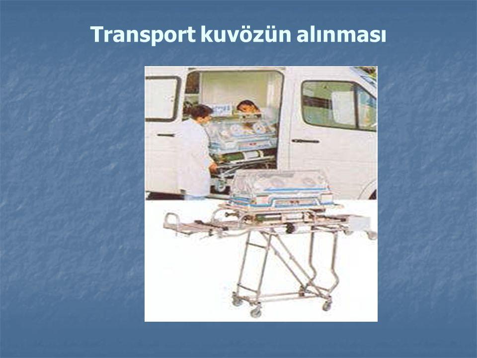 Transport kuvözün alınması
