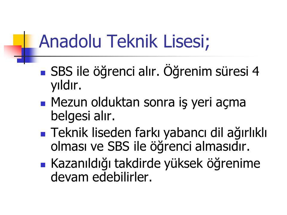 Anadolu Teknik Lisesi;